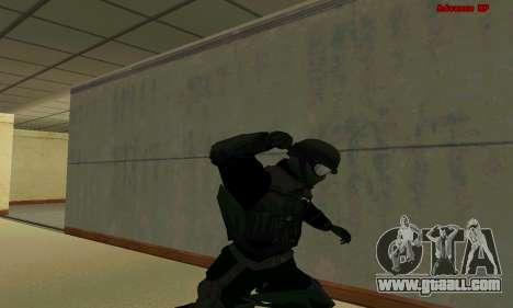 Skin FIB SWAT from GTA 5 for GTA San Andreas eighth screenshot