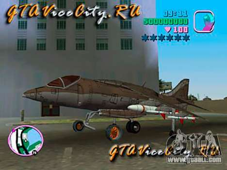 Harrier for GTA Vice City back left view