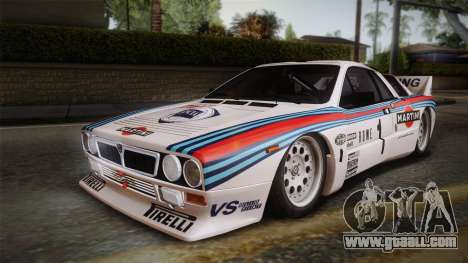 Lancia Rally 037 Stradale (SE037) 1982 Dirt PJ1 for GTA San Andreas left view