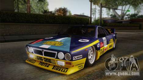 Lancia Rally 037 Stradale (SE037) 1982 Dirt PJ1 for GTA San Andreas back left view