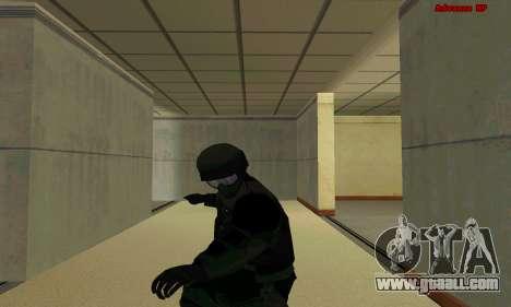 Skin FIB SWAT from GTA 5 for GTA San Andreas seventh screenshot