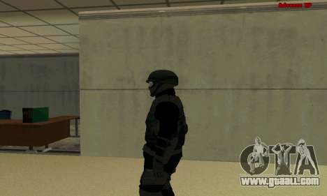 Skin FIB SWAT from GTA 5 for GTA San Andreas second screenshot