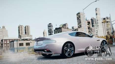 Aston Martin DB9 2013 for GTA 4 interior