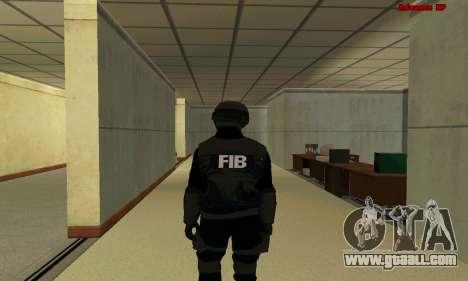 Skin FIB SWAT from GTA 5 for GTA San Andreas third screenshot