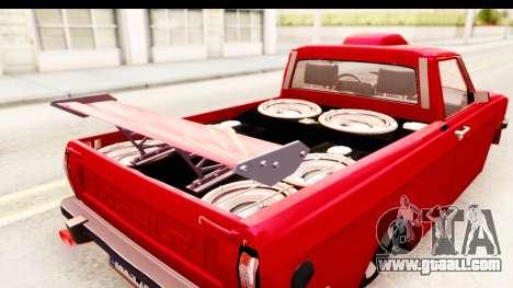 Peykan Pickup Full Sport Iranian for GTA San Andreas inner view