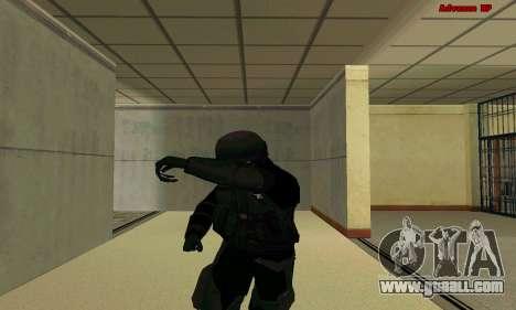 Skin FIB SWAT from GTA 5 for GTA San Andreas sixth screenshot