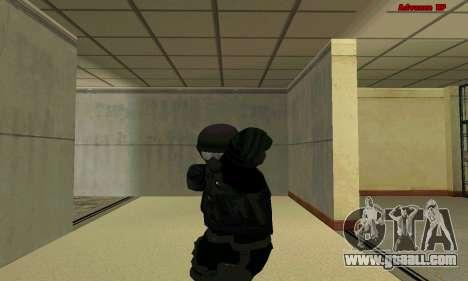 Skin FIB SWAT from GTA 5 for GTA San Andreas fifth screenshot