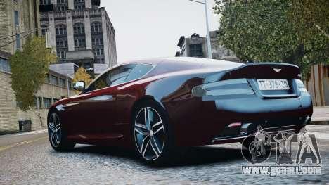 Aston Martin DB9 2013 for GTA 4 inner view