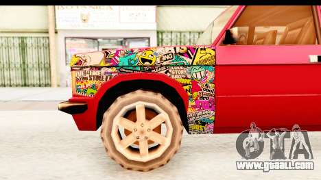 Huntley Sticker Bomb for GTA San Andreas back view