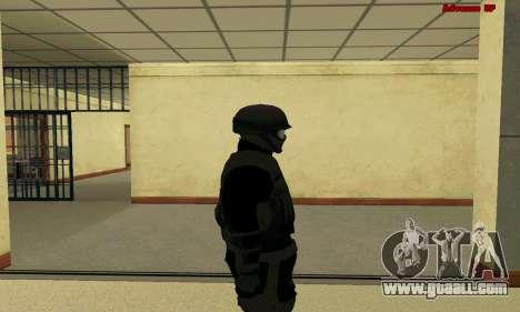 Skin FIB SWAT from GTA 5 for GTA San Andreas forth screenshot