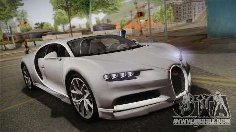 Bugatti Chiron 2017 v2.0 Dubai Plate for GTA San Andreas
