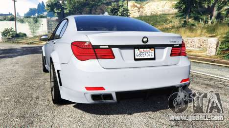 GTA 5 BMW 760Li (F02) Lumma CLR 750 [replace] rear left side view