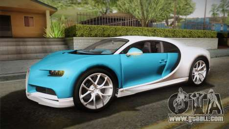 Bugatti Chiron 2017 v2.0 Dubai Plate for GTA San Andreas inner view