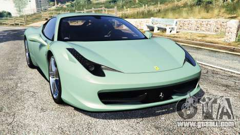 Ferrari 458 Italia [replace] for GTA 5