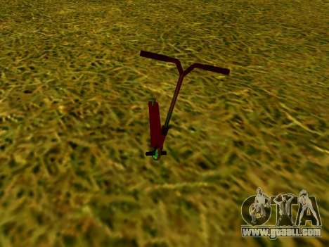 Stunt scooter for GTA San Andreas back left view