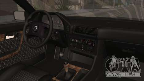 BMW 5 Series E34 ЕК for GTA San Andreas inner view