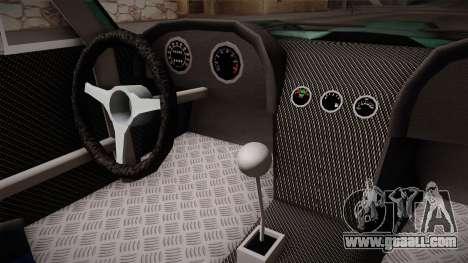 Chevrolet Corvette Coupe 1964 for GTA San Andreas inner view