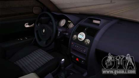 Renault Megane Sedan for GTA San Andreas inner view