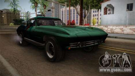 Chevrolet Corvette Coupe 1964 for GTA San Andreas right view