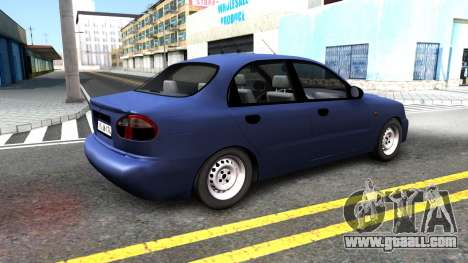Daewoo Lanos for GTA San Andreas back left view