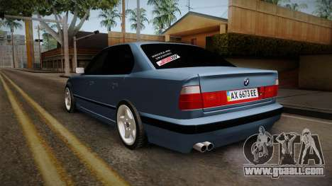 BMW 5 Series E34 ЕК for GTA San Andreas back left view