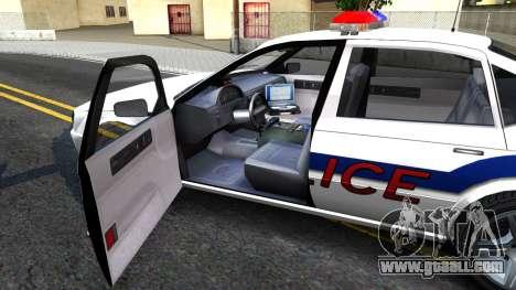 Declasse Merit Metropolitan Police 2005 for GTA San Andreas inner view