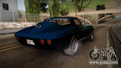Chevrolet Corvette Coupe 1964 for GTA San Andreas back left view