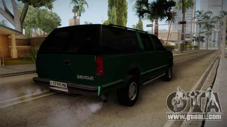 Chevrolet Suburban GMT400 1998 for GTA San Andreas left view
