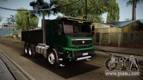Volvo FMX dump Truck for GTA San Andreas right view
