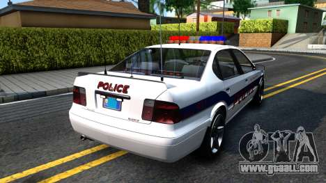 Declasse Merit Metropolitan Police 2005 for GTA San Andreas back left view