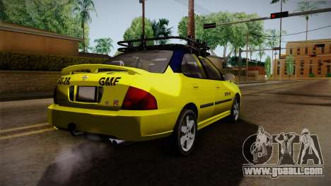 Nissan Sentra Taxi for GTA San Andreas back left view