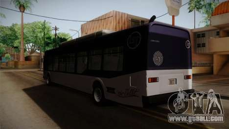 GTA V Transit Bus for GTA San Andreas back left view