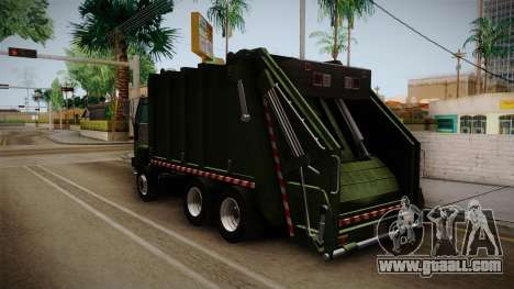 Ford Cargo Trashmaster 1992 for GTA San Andreas back left view
