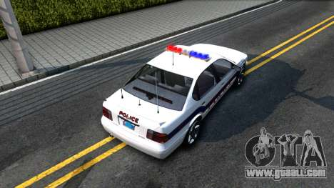 Declasse Merit Metropolitan Police 2005 for GTA San Andreas back view