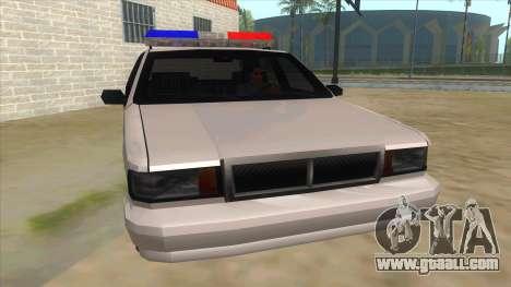 1992 Declasse Premier Angel Pine PD for GTA San Andreas back view