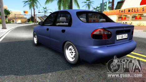 Daewoo Lanos for GTA San Andreas right view