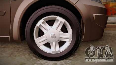 Renault Megane Sedan for GTA San Andreas back view