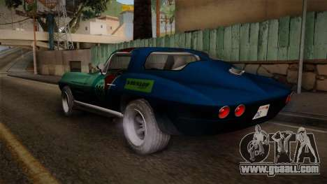 Chevrolet Corvette Coupe 1964 for GTA San Andreas left view