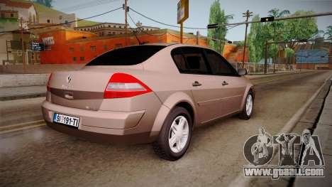 Renault Megane Sedan for GTA San Andreas left view