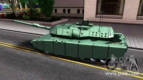 Leopard 2A7 for GTA San Andreas back left view