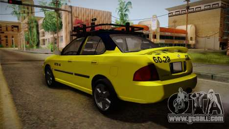 Nissan Sentra Taxi for GTA San Andreas left view