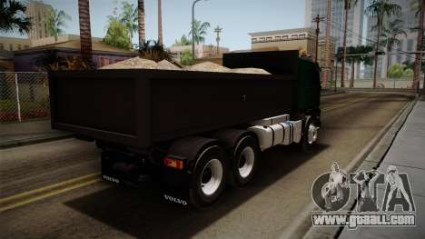 Volvo FMX dump Truck for GTA San Andreas back left view