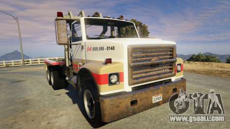 GTA 5 Teller-Morrow Towtruck from SOA back view