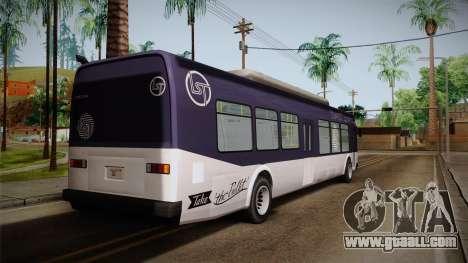 GTA V Transit Bus for GTA San Andreas left view