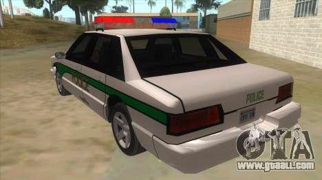 1992 Declasse Premier Angel Pine PD for GTA San Andreas back left view