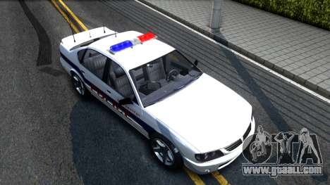 Declasse Merit Metropolitan Police 2005 for GTA San Andreas right view