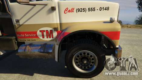 GTA 5 Teller-Morrow Towtruck from SOA rear right side view