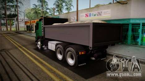 Volvo FMX dump Truck for GTA San Andreas left view