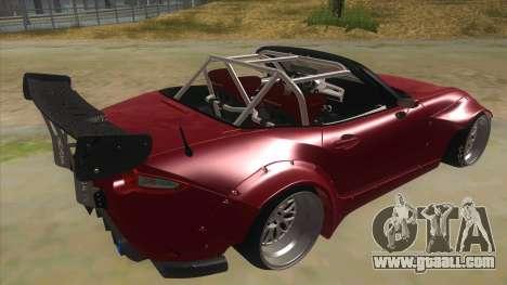 Mazda MX-5 2016 for GTA San Andreas right view