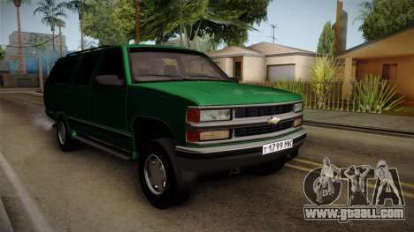 Chevrolet Suburban GMT400 1998 for GTA San Andreas back left view